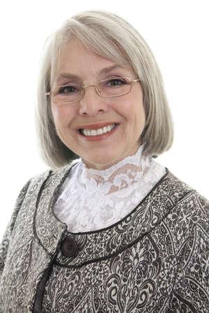 matron: Mature, attractive Caucasian woman smiles at the camera