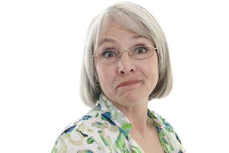 Mature, attractive Caucasian woman with a humorous expression photo