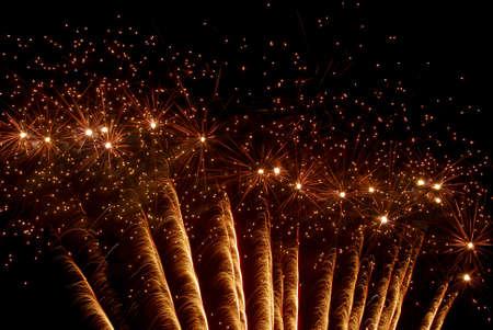 Fireworks on a black sky. photo