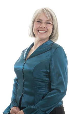 Reife, attraktive kaukasischen Frau Lächeln in die Kamera Standard-Bild - 7503071