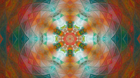 Digitally rendered symmetrical abstract art.