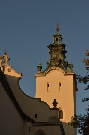 Lviv, Bernardine monastery, is old historical and architectural sight of the XV century Фото со стока