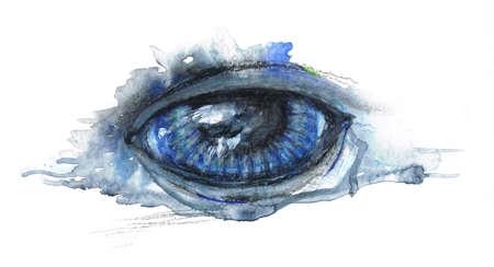 watercolor eye Imagens