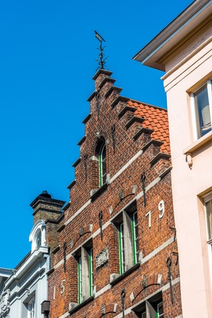 Old historical house in the central part of Brugge, Belgium photo