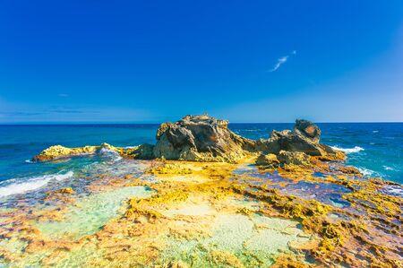 Coastline on Isla Mujeres in Cancun, Mexico