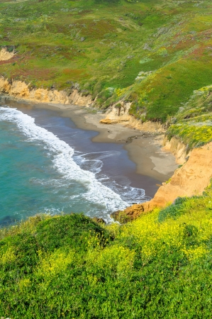 Wild beach close to Rodeo Beach in California, USA photo