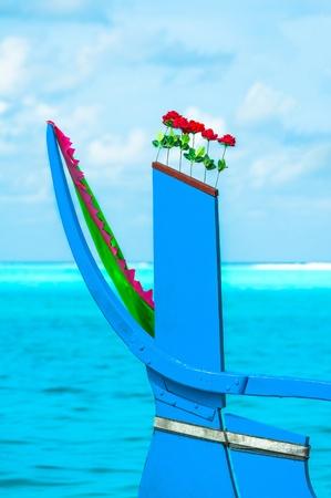 incarnadine: Bow of the Dhoni - traditional maldivian boat