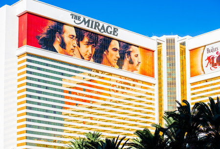 LAS VEGAS - SEPTEMBER 27: Beatles at The Mirage hotel. The Beatles show Love is written and directed by Dominic Champagne. Las Vegas, September 27, 2013 Редакционное