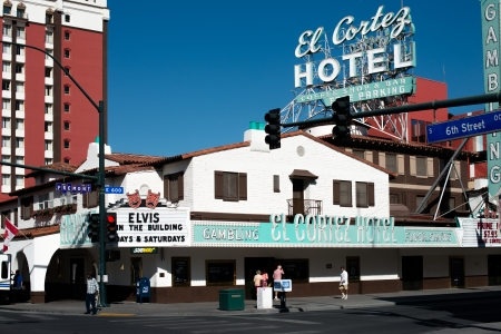 siegel: LAS VEGAS - OCTOBER 3: The El Cortez Hotel and Casino in Las Vegas. On February 22, 2013, the was placed on the National Register of Historic Places. Las Vegas, October 3, 2013 Editorial