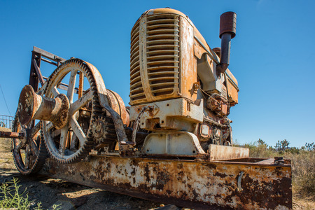 rackwheel: Device made from tractor and gearwheel from the old mine