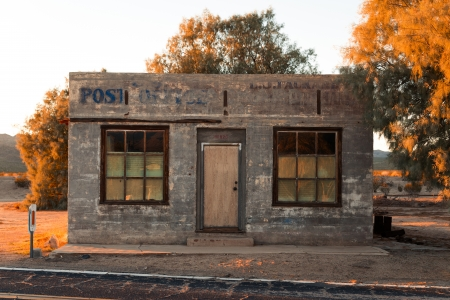 Abandoned post office building in California