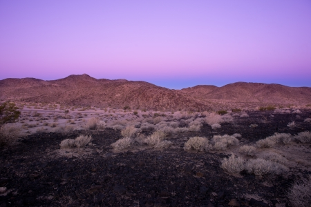 Sunrise in the volcanic place close to Mojave desert in California