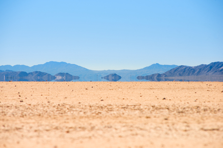 a mirage: Mirage in the Death Valley, California Stock Photo