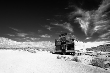 Abandoned building in  Rhyolite Ghost Town, Nevada photo