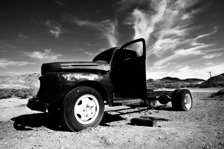 abandoned car: Vintage abandoned car