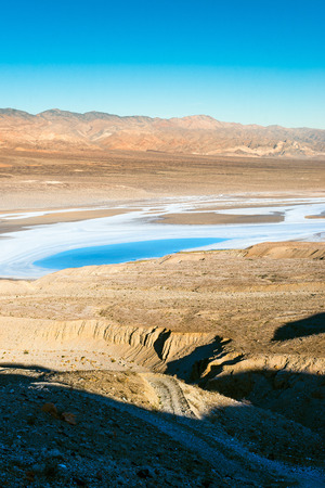 Salt lake in Death Valley photo
