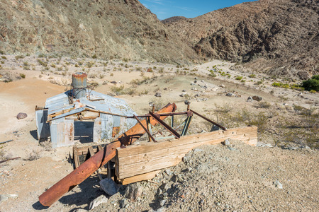 borax: Old mine on Old Toll road in Death Valley
