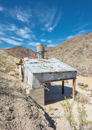Old mine on Old Toll road in Death Valley photo