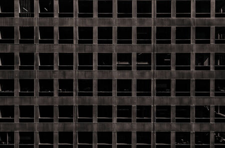 dystopia: Dark and empty office space