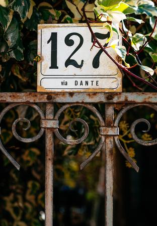 House Number 127 On Via Dante