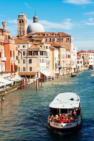 Church San Geremia and ACTV vaporetto on Grand Canal