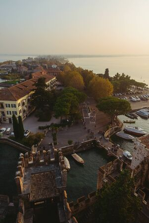 sirmione: Sunset in Sirmione, Northern Italy