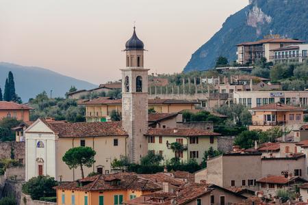 sirmione: Limone sul Garda, Italy during the sunrise Stock Photo