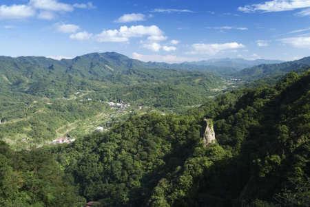 untitled key: In the top of the mountain, saw beautiful scenery in Taiwan. Stock Photo