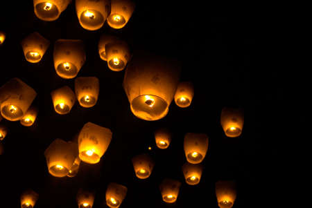 Its Taiwan custom - sky lamp, write your wish and let it go to like a balloon.