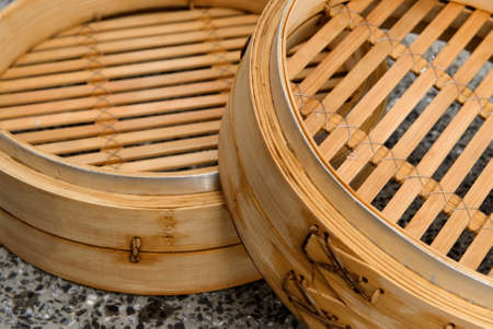 It is a chinese steamer made with bamboo. photo