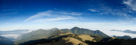 Beautiful panorama mountain landscape with blue sky. Stock Photo - 4553618