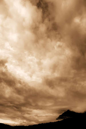 There are beautiful clouds over the hill. Stock Photo - 4747100