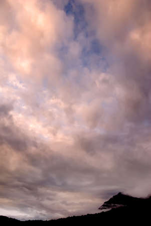There are beautiful clouds over the hill. Stock Photo - 4825102