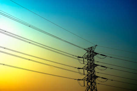 There is a  electric tower with beautiful light. Stock Photo - 4950377