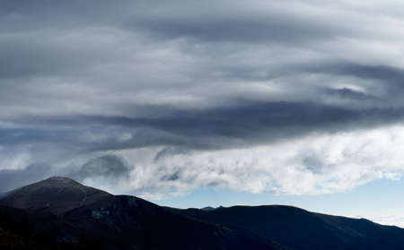 It is very beautiful clouds and mountain. Stock Photo - 5039952