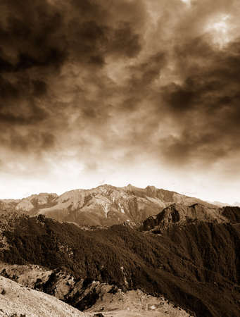 natural moody: It is a beautiful mountain beautiful storm coming.