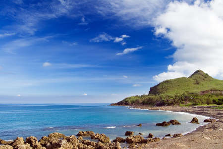 kenting: It is a beaufiful coral reef bay in Kenting of Taiwan.