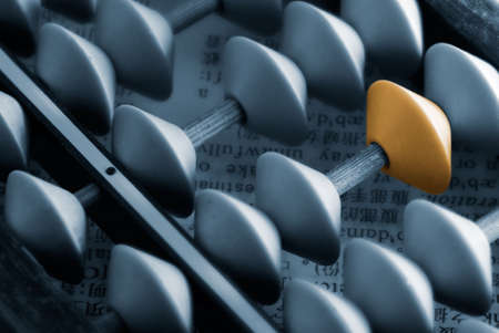 abacus: It is an old chinese tool called abacus. Stock Photo