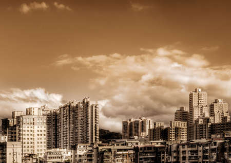 Here is the city scene of day in Taiwan. photo