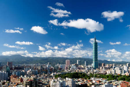 district: It is a beautiful cityscape in Taipei of Taiwan.