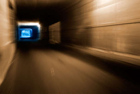 Its a tunnel with weak light.