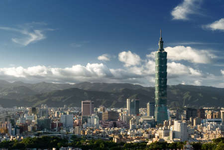 taipei: It is a beautiful cityscape in Taipei of Taiwan.