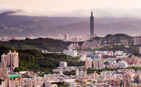 It is a beautiful city landscape in Asian city of Taiwan. Stock Photo - 5467831