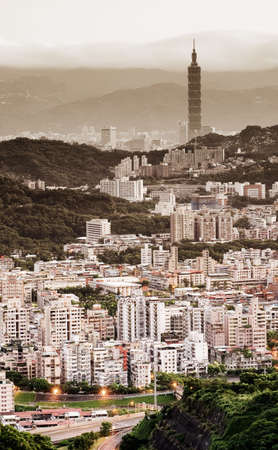It is a beautiful city landscape in Asian city of Taiwan. Stock Photo - 5467880