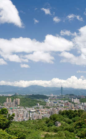 It is a beautiful cityscape in Asia of Taipei. Stock Photo - 5519190