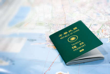 foreign national: It is Taiwan passport on a map.