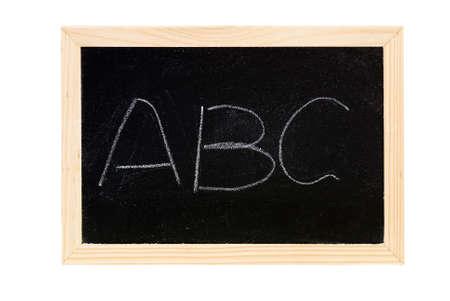 Blackboard was writing white words of ABC. photo
