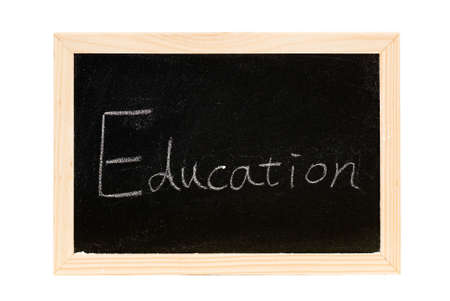 Blackboard was writing white a word of Education. photo