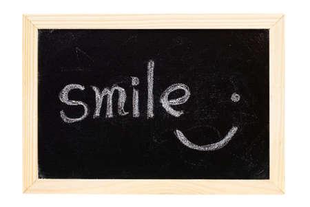 It is a blackboard written smile. photo