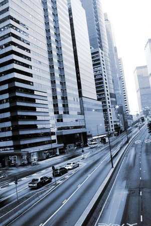 It is traffic with cars motion blurred in Hong Kong. Stock Photo - 5767112